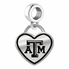 Texas A&M Aggies Border Heart Dangle Charm