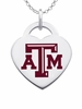 Texas A&M Aggies Color Logo Heart Charm