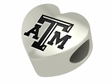 Texas A&M Aggies Heart Shape Bead