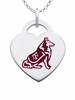 Texas A&M Aggies Logo Heart Pendant With Color