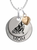 Texas A&M Aggies MOM Necklace with Heart Charm