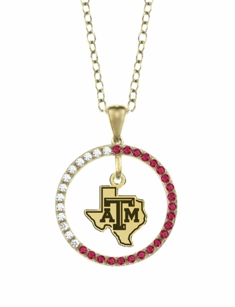 Texas A&M Aggies Ruby and Diamond Necklace