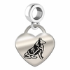 Texas A&M Engraved Heart Dangle Charm