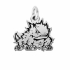 Texas Christian Horned Frogs Silver Charm