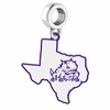 Texas Christian Horned Frogs Logo Dangle Charm