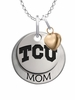 Texas Christian Horned Frogs MOM Necklace with Heart Charm