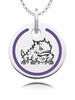 Texas Christian Horned Frogs Round Enamel Charm