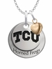Texas Christian Horned Frogs with Heart Accent