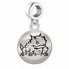 Texas Christian Round Dangle Charm