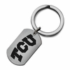 Texas Christian TCU Stainless Steel Key Ring