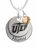 Texas El Paso Miners Alumni Necklace with Heart Accent