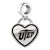 Texas El Paso Miners Border Heart Dangle Charm
