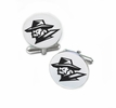 Texas El Paso Miners Cufflinks Stainless Steel Round Top