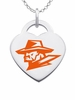 Texas El Paso Miners Logo Heart Pendant With Color