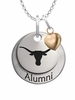 Texas Longhorns Alumni Necklace with Heart Accent