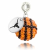 Texas Longhorns Crystal Drop Charm