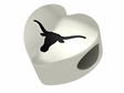 Texas Longhorns Heart Shape Bead