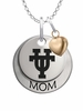Texas Longhorns MOM Necklace with Heart Charm