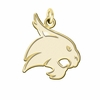 Texas State Bobcats 14K Yellow Gold Natural Finish Cut Out Logo Charm