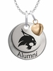 Texas State Bobcats Alumni Necklace with Heart Accent