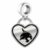 Texas State Bobcats Border Heart Dangle Charm