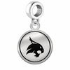 Texas State Bobcats Border Round Dangle Charm