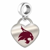 Texas State Bobcats Color Heart Dangle