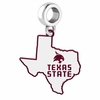 Texas State Bobcats Logo Dangle Charm
