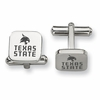Texas State Bobcats Stainless Steel Cufflinks