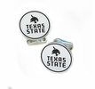 Texas State Bobcats Sterling Silver Cufflinks