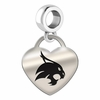 Texas State Engraved Heart Dangle Charm