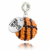 Texas Tech Crystal Drop Charm