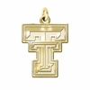 Texas Tech Red Raiders 14K Yellow Gold Natural Finish Cut Out Logo Charm