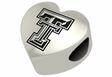 Texas Tech Red Raiders Heart Shape Bead
