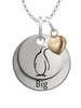Theta Phi Alpha BIG Necklace with Heart Accent