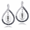 Theta Phi Alpha Black and White Figure 8 Earrings