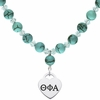 Theta Phi Alpha Heart and Turquoise Necklace
