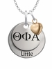 Theta Phi Alpha LITTLE Necklace with Heart Accent