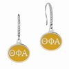 Theta Phi Alpha Sterling Silver and CZ Drop Earrings