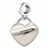 Toledo Engraved Heart Dangle Charm