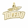 Toledo Rockets 14K Yellow Gold Natural Finish Cut Out Logo Charm