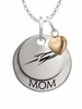 Toledo Rockets MOM Necklace with Heart Charm