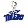 Toledo Rockets Silver Logo and School Color Drop Charm