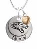 Towson Tigers Alumni Necklace with Heart Accent