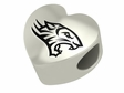 Towson Tigers Heart Shape Bead