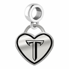 Troy Trojans Border Heart Dangle Charm