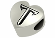 Troy Trojans Heart Shape Bead