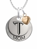 Troy Trojans MOM Necklace with Heart Charm