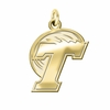 Tulane Green Wave 14K Yellow Gold Natural Finish Cut Out Logo Charm