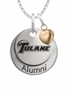 Tulane Green Wave Alumni Necklace with Heart Accent